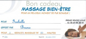 Cadeau Massage Beziers